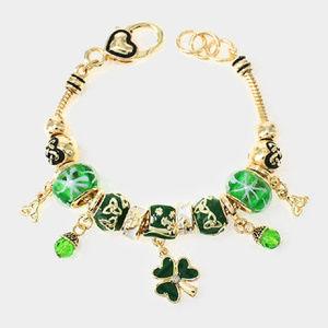 Jewelry - irish clover & celtic knot charm bracelet